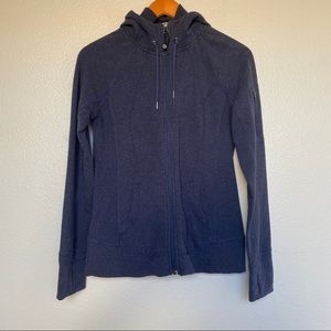 ATHLETA | navy zip up hoodie sweatshirt medium